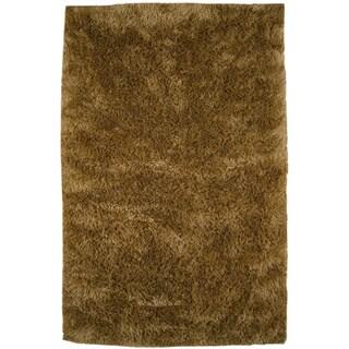 Hand-woven Suns Gold New Zealand Wool Rug (5' x 8')