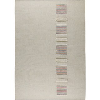 Hand-knotted Salz White New Zealand Wool Rug (6'6 x 9'9)