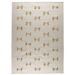 M.A.Trading Hand-tufted Napoli White New Zealand Wool Rug (6'6 x 9'9)