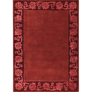 Hand-tufted Vien Plum New Zealand Wool Rug (6'6 x 9'9)