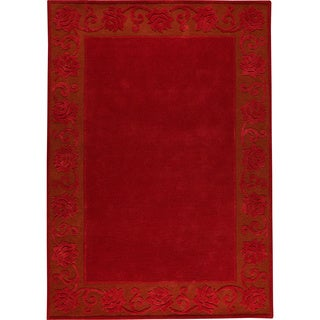 Hand-tufted Vien Red New Zealand Wool Rug (6'6 x 9'9)