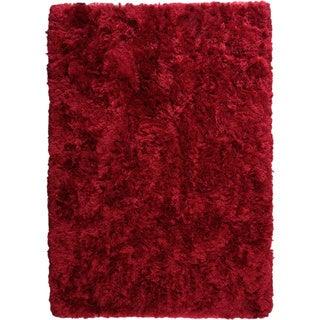 Hand-woven Dubai Wine Area Rug (6'6 x 9'9)