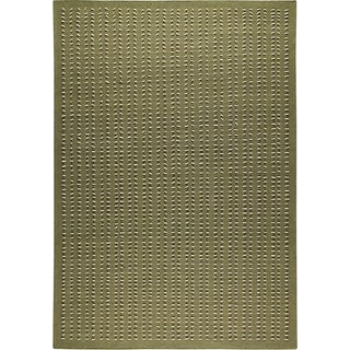 Hand-woven Palm Green New Zealand Wool Rug (6'6 x 9'9)