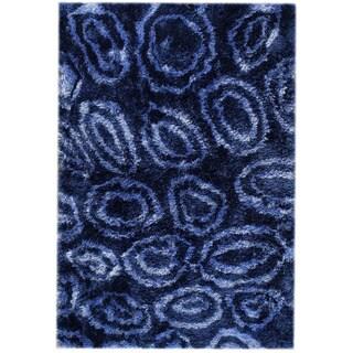 Hand-tufted Isla Blue Area Rug (7'10 x 9'10)