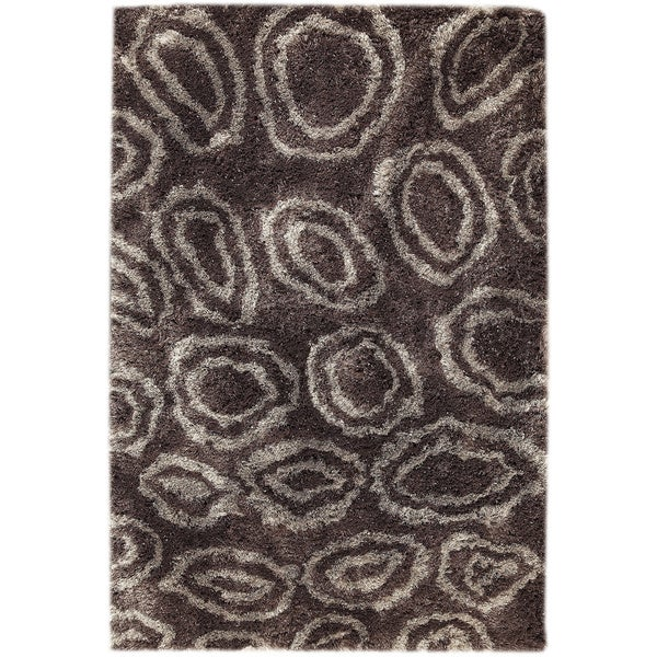 Hand-tufted Isla Grey/ Brown Area Rug (7'10 x 9'10)