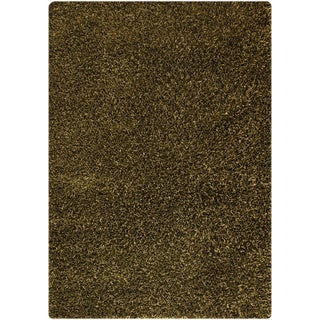 Hand-woven Cosm Green Area Rug (7'10 x 9'10)