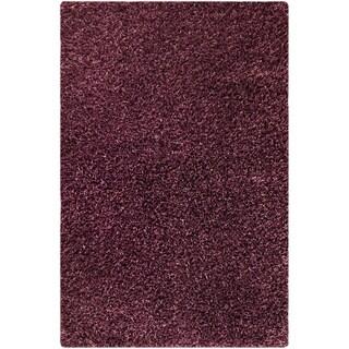 Hand-woven Cosm Purple Area Rug (7'10 x 9'10)