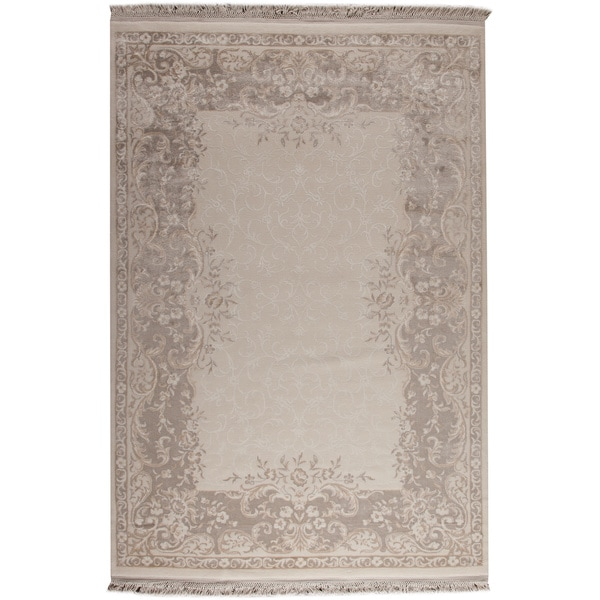 Abun White/ Beige New Zealand Wool Rug