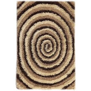 Hand-tufted Land Beige/ Brown Area Rug (7'10 x 9'10)