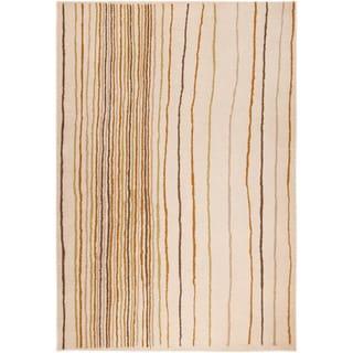 Hand-tufted Line Grey/ Natural European Wool Blend Rug (7'10 x 9'10)