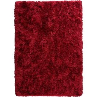 Hand-woven Duba Wine Area Rug (8'3 x 11'6)