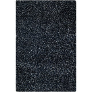Hand-woven Cosm Blue Area Rug (7'10 x 9'10)