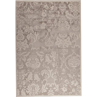 Baro White/ Beige New Zealand Wool Rug (7'10 x 9'10)