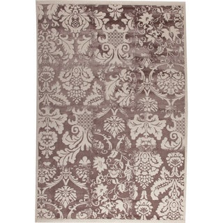 Baro White/ Brown New Zealand Wool Rug (7'10 x 9'10)