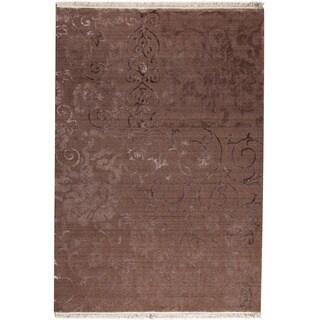Sate Brown New Zealand Wool Rug (7'10 x 9'10)