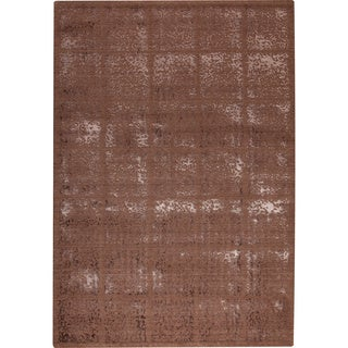 M.A.Trading Subtle Squares Brown New Zealand Wool Rug (7'10x9'10)