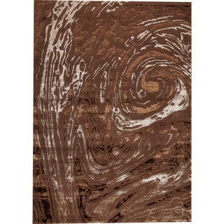 M.A.Trading Swirl Brown New Zealand Wool Rug (7'10 x 9'10)
