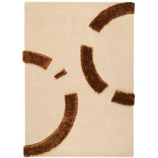 Hand-tufted Odes Beige New Zealand Wool Rug (8'3 x 11'6)