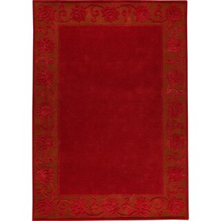 Hand-tufted Vien Red New Zealand Wool Rug (8'3 x 11'6)