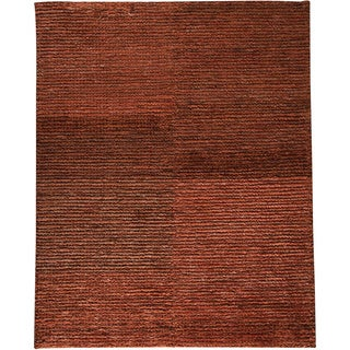 M.A.Trading Hand-woven Nature Rust New Zealand Wool Rug (8'3x11'6)