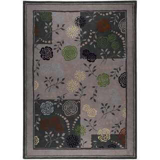 Hand-tufted Toro Grey New Zealand Wool Rug (8' x 10')