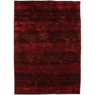 Hand-woven Delh Red Area Rug (8'x10')