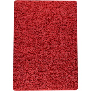 Hand-woven Squa Red New Zealand Wool Rug (9'x 12')