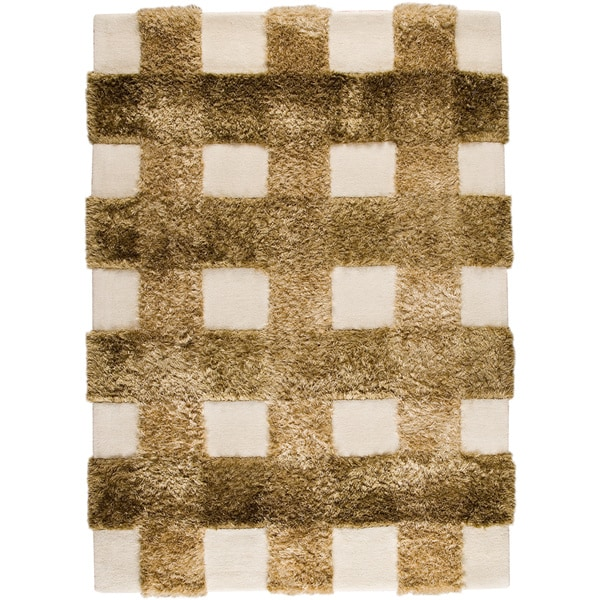 Hand-tufted Kent Khaki New Zealand Wool Rug (5'6 x 7'10)
