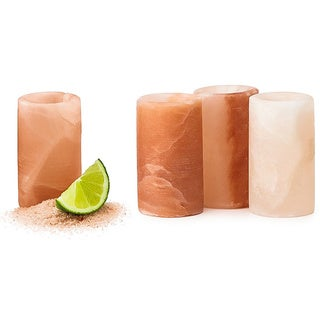 (Set of 4) Black Tai Salt Company Himalayan Salt Shot Glasses (Pakistan)