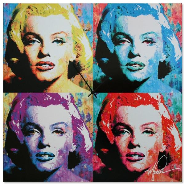 Metal Art Studio 'Marilyn Monroe Clock' Colorful Pop Art Urban Wall Clock