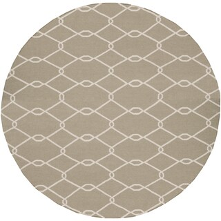 Hand-Woven Amina Reversible Wool Rug (8' Round)