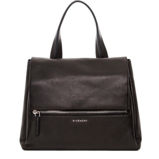 Givenchy Pandora Medium Black Leather Flap Bag