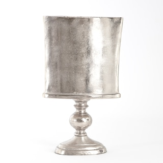 Raw Nickeled Urn Silver Finish