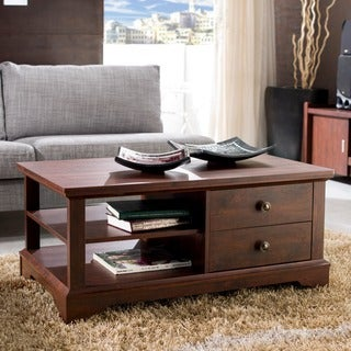 Furniture of America Behati Vintage Walnut Coffee Table