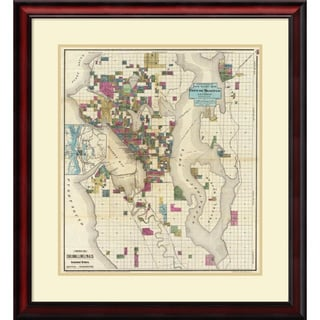 O.P. Anderson 'City of Seattle and Environs, 1890' Framed Art Print 28 x 31-inch