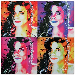 Metal Art Studio 'Michael Jackson Clock' Colorful Pop Art Urban Wall Clock