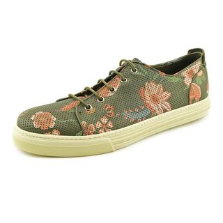 Gucci Men's 'Flower Print Leather Low-Top' Leather Athletic Shoe (Size 10 )