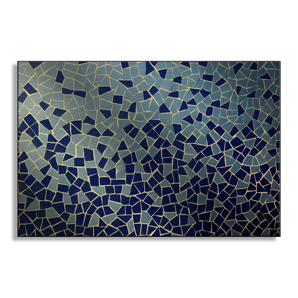 Underworld's 'Blue and Teal Mosaic' Metal Art