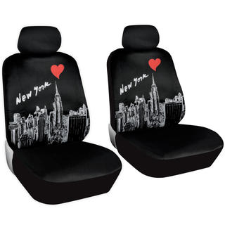 BDK Full Set New York Car Seat Covers and Floor Mats