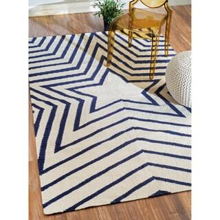 nuLOOM Flatweave Geometric Star Kilim Wool Rug (7'6 x 9'6)