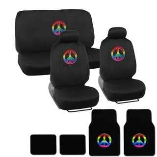 BDK Peace Full Set Car Seat Covers and Floor Mats