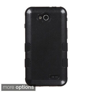 INSTEN Tuff Dual Layer Hybrid Dots Rubberized Hard PC/Silicone Phone Case Cover For LG Optimus L90
