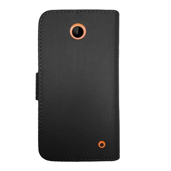 INSTEN Leather Folio Flip Stand Wallet Case for Nokia Lumia 635