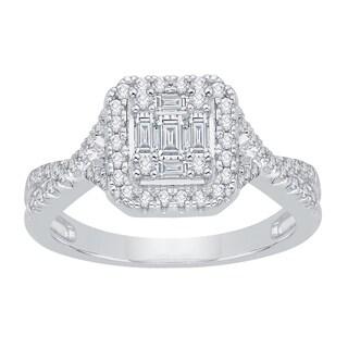 14k White Gold 2/5ct TDW Diamond Bridal Engagement Ring (G-H, I2-I3)