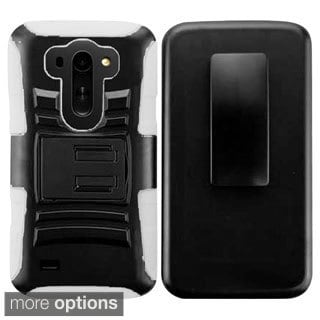 INSTEN Advanced Armor Dual Layer Hybrid Stand PC/ Silicone Holster with Phone Case Cover For LG G Vista VS880