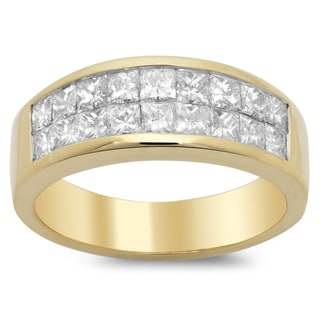 Artistry Collections 14k Yellow Gold Men's 3 1/3ct TDW Diamond Ring (F-G, SI1-SI2)