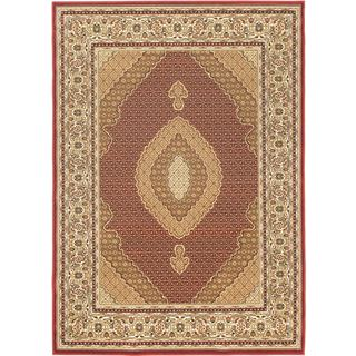 Machine-made Classic Mahee Red Polypropylene Rug (6'7 x 9'6)