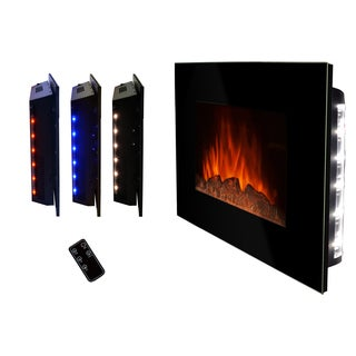 Golden Vantage 36-inch Free Wall Mount Indoor Heater Electric Fireplace