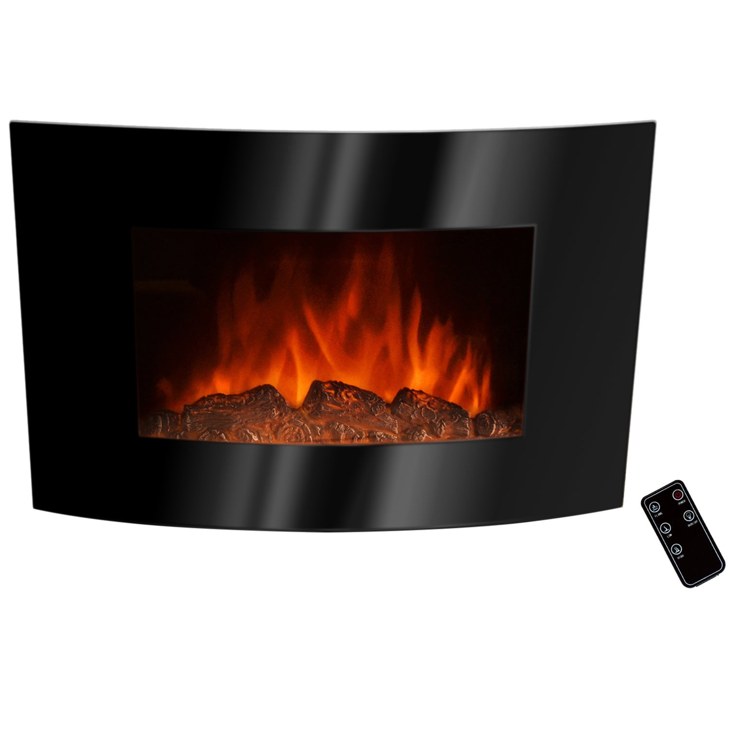 AKDY Golden Vantage 36-inch Black Wall Mount Indoor Heater Electric Fireplace