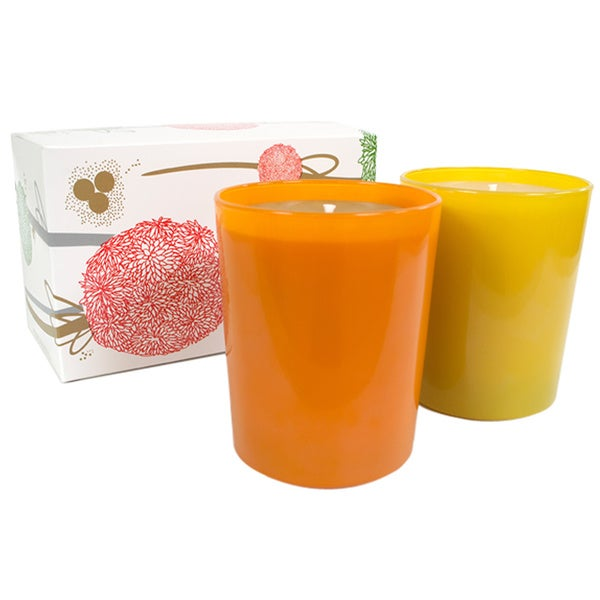 Qualitas White Beeswax Wild Honey and Pomander Holiday Candles Set